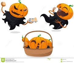 cute jack o lantern clipart jack o lantern halloween cartoon set 3 stock illustration image