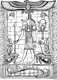 anubis god of ancient egypt coloring page free printable