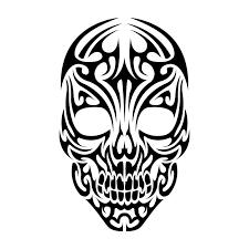 tribal skull design artwork skulls