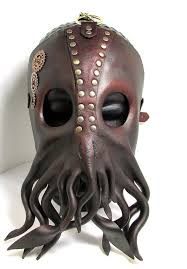 unique masks steunk cthulhu mask unique leather squid by wastelandartisan