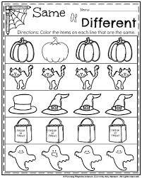 halloween kindergarten worksheets worksheets