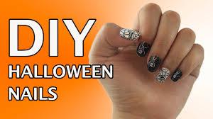 diy halloween nails using jamberry nail wraps spider web