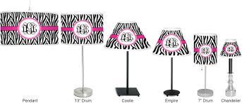 zebra print chandelier lamp shade personalized potty patty