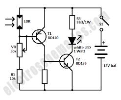 mini emergency led light circuit