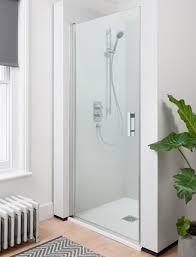 800mm Pivot Shower Door Click Hinged Shower Door In Click Luxury Bathrooms Uk