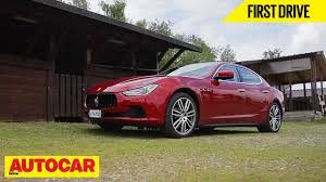 maserati ghibli red maserati ghibli first drive autocar india youtube