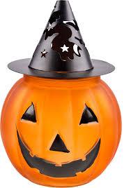 amazon com halloween large glass u0026 metal jack o u0027 lantern pumpkin