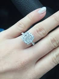 engagement rings that look real real engagement rings cushion diamonds weddingbee