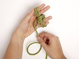 instructions for tying a monkey fist knot hgtv
