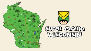 Map Wisconsin Dells by Super Mario Wisconsin Map Youtube