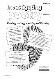 Sustained Silent Reading Worksheet Investigating Poetry Ages 11 By Teacher Superstore Issuu