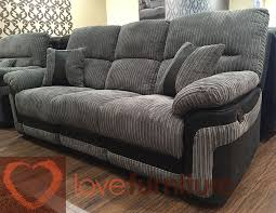 three seater recliner sofa fabric 3 seater recliner sofa grey 3rr