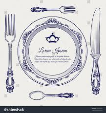 dinner ready vector illustration cutlery vintage stock vector