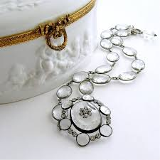 silver rock necklace images Rock crystal silver paste victorian pendant necklace at 1stdibs jpg