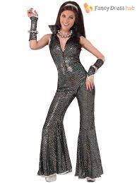 70s jumpsuit womens 70s disco jumpsuit costume womens groovy flare fancy