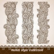 set of ornamental mendi style borders vector clipart image 28752