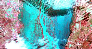 Parana River Map Space Images Flooding Along Parana River