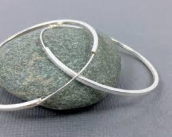 large silver hoop earrings large silver hoops etsy