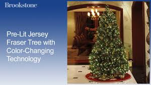 pre lit jersey fraser tree with color changing technology