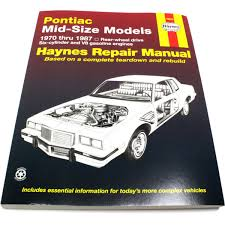 haynes repair manual new pontiac grand prix am bonneville lemans