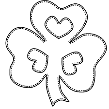printable coloring pages shamrock