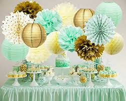 gold baby shower decorations mint gold birthday decorations mint gold polka