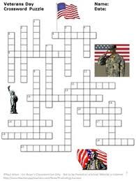 veterans day crossword puzzle and veterans day writing papers tpt