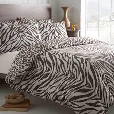 de cama masai leopard and zebra print reversible duvet cover set