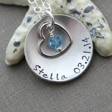 Child Name Necklace Birthstone Necklace Ideas U0026 Collections