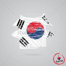 South Korea Flag South Korea Flag Design Vector Image 2013737 Stockunlimited