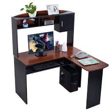 Student Computer Desk With Hutch by Corner Computer Desk L Shaped Workstation Desks Office
