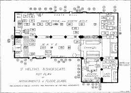 Floor Plan Of A Church by St Helen U0027s Bishopsgate Fittings British History Online