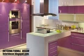 purple kitchen interior design and contemporary kitchen design