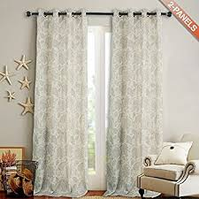 Linen Drapery Amazon Com Moroccan Pattern Linen Curtains 95 Inch Long For