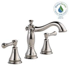 home depot bathroom vanity faucets delta polished nickel bathroom faucets bath the home depot