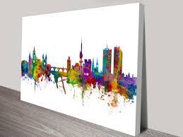 canvas photo prints canvas art and wall art banksy art prints prague watercolour cityscape michael tompsett canvas art