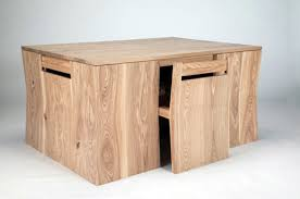 dining table with hidden chairs chubby brothers hidden chairs dining table yanko design