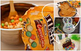 m u0026m u0027s carrot cake easter bunny cake recipe