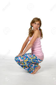 in pajamas and ponytails stock photo picture and