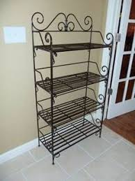 Used Bakers Rack For Sale I Always Like A Wrought Iron Bakers Stand I Use This To House All