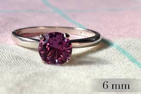 chagne engagement ring 6mm alexandrite ring color change alexandrite engagement