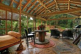 screened in outdoor rooms at home interior designing