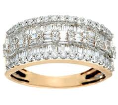 baguette diamond band baguette diamond band ring 14k 1 00 cttw by affinity