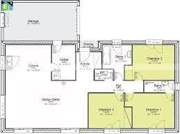 plan de maison 4 chambres gratuit idee maison plain pied ordinaire plan maison etage 4 chambres