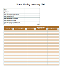 sample inventory list template 7 free documents download in