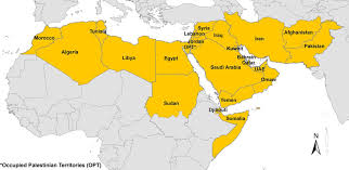 middle east map with countries figure 1 map of the middle east and africa region as defined