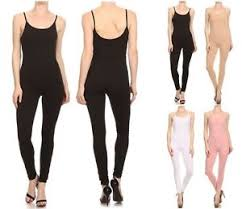 s one jumpsuit usa made cotton spandex spaghetti catsuit jumpsuit one