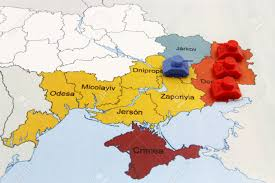 Map Of Ukraine And Crimea Map Of War In Donbass Ukraine With Numerical Superiority Of
