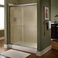Frameless Slider Shower Doors Frameless Sliding Shower Doors American Standard Bronze