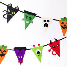 halloween characters bunting banner